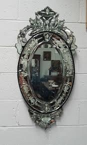 vintage venetian oval mirror moonee ponds antiques