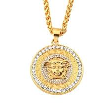 medusa pendant in gold the link jewelry supplier solid cross necklace 8 light