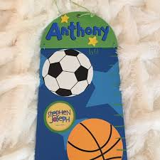 Sports Themed Growth Chart Nwt