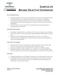 The Best Objective For Resumes Examples Of Career Objectives On Resume Administrative Objective