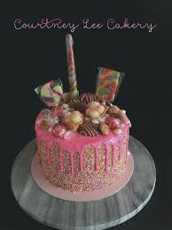 Girly 21st Birthday Cake Ideas Gold Pearls And Pink Baby Shower