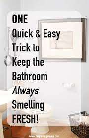 Bathroom Air Freshener Adorable One Quick Trick To Keep Your Bathroom Smelling Fresh The Pinning Mama
