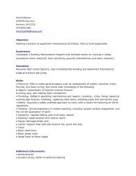 Building Maintenance Resume Templates Resume Templates For Supervisor Position Best Of Building 7