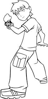 Nice Free Ben 10 Coloring Pages