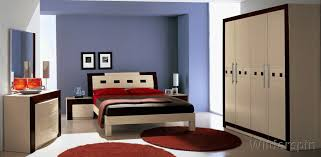 nitestands blue white contemporary bedroom interior modern