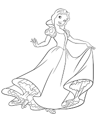 Disney Princess Snow White Coloring Pages Coloringstar