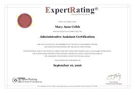 Administrative Professional Certificate Administrative Assistant Certificate