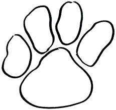 bulldog paw print outline. Perfect Outline Dog Paw Print Outline Car Memes With Bulldog T