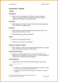 Business Brief Example Business Brief Example Check Templates Short Proposal Writing Skills