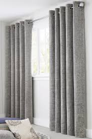silver textured chenille eyelet curtains from the next uk