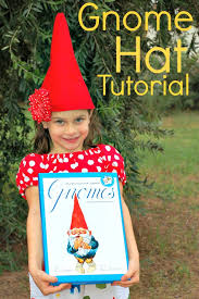 tutorial for making a gnome hat out of felt