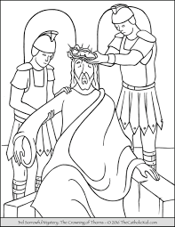 Small Picture Sorrowful Mysteries Rosary Coloring Pages The Crowning of Thorns