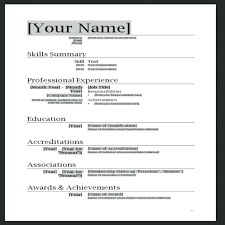 Professional Format Doc Modern Resume Template Word Info Free