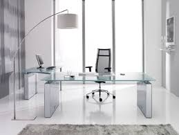 contemporary glass office. Contemporary Glass Office Desk Perfect Modern Computer Table White Workstation