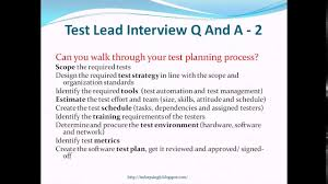 test lead interview questions and answers test lead interview questions and answers