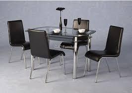 gl dining table sets argos spurinteractive black glass dining table 4 chairs room ideas