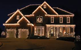 Exellent Christmas Home Lighting Ights With Prelit Garland G Throughout Decorating