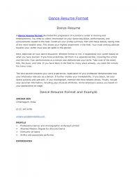 Cover Letter Dance Teacher Resume Dance Teacher Resume Dance