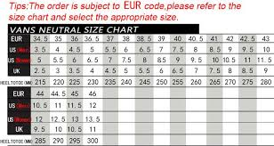 Vans Authentic Size Chart Buy 2 Off Any Vans Shoe Chart Case And Get 70 Off