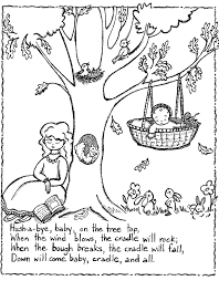 A simple coloring page for teaching colors. Free Printable Nursery Rhymes Coloring Pages For Kids