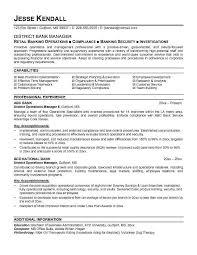 banking resumes resumes samples