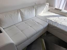 Wohnlandschaft Couch In Lederoptik Weiß In 6135 Stans Für