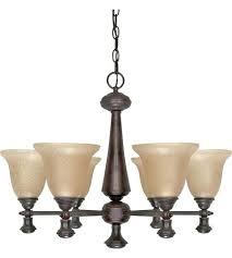 6 light bronze chandelier sfera 6 light autumn bronze chandelier