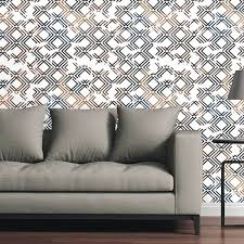 removeable wall paper circle art group removable wallpaper tile geometric copper and navy removable wallpaper home