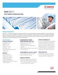 Wide Format Printer Comparison Chart 45111 Engineering Bond 20 Lb Manualzz Com