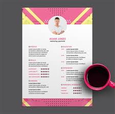 Creative Marketing Resume Free Download Creative Marketing Cv Resume Psd Template