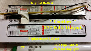 how to replace a t electronic kitchen light ballast