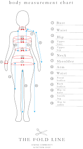 full body measurement chart the sewing pattern tutorials 9 measuring yourself the foldline