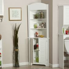 Bathroom Cabinet Tower Bathroom Linen Tower Corner Storage Cabinet With 3 Open Shelves In