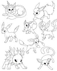 Small Picture Eevee Evolutions Dress Up Coloring Coloring Pages