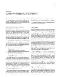 Chapter Three Current Practices In Value Engineering