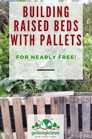 building raised garden beds from used