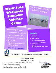 Summer Science Camp flyer 2013