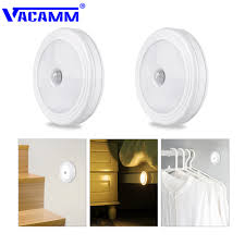 Battery Operated Led Indoor Lights Us 4 55 20 Off Vacamm Wall Lamp Led Pir Motion Sensor Auto On Off Battery Operated Lamp For Indoor Corridor Aisle Stairs Warm White White In Led