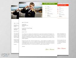 Cabin Crew Flight Attendant Modern Resume Cv Template Cover