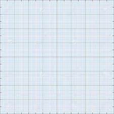 Graph Paper Grid Background Blue Color 2d Illustration Vector