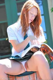 Teen Pale Shaved Redhead Schoolgirl Pepper Kester with Plump Pussy.