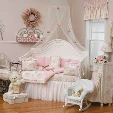 Shabby Chic Pink Canopy Bedroom