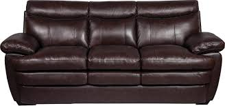 Marty Genuine Leather Sofa Brown The Brick Within Brick Sofas (#9 of 12)