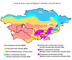 Central Asia Map Of Köppen Climate
