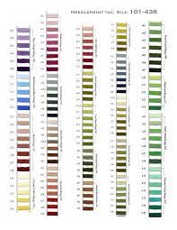 Soie D Alger Colour Chart Needlepoint Silk Color Range Chart Cross Stitch Fabric