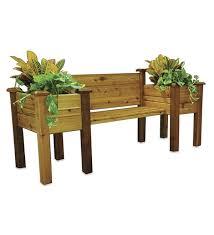 cedar planter bench deck patio planters plow hearth