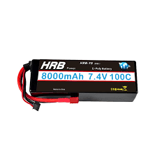 HRB <b>RC Car Lipo Battery</b> 2S2P 7.4V 8000mah 100C Max 200C ...