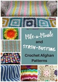 Mile A Minute Crochet Afghan Patterns Inspiration 48 MileaMinute And StashBusting Crochet Afghan Patterns