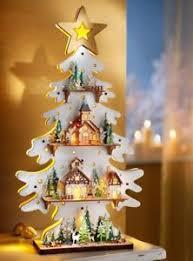 Details Zu Led Holz Tannenbaum Engel 3d Weihnachtsdeko Timer Fensterdeko Beleuchtet Tanne