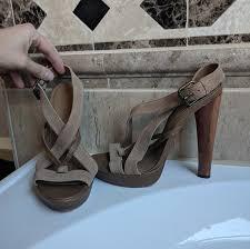 Bcbgeneration Shoe Size Chart Max Azria Size Euro 39 Us 7 Brown Heel